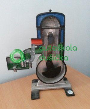 Obrázok 3D modelu dvojdobého motora