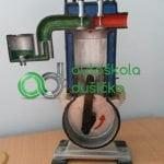 Obrázok 3D modelu štvordobého benzinového motora