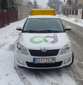 autoškola DUŠIČKA Košice - výcvikové vozidlo Fabia s prívesným vozíkom