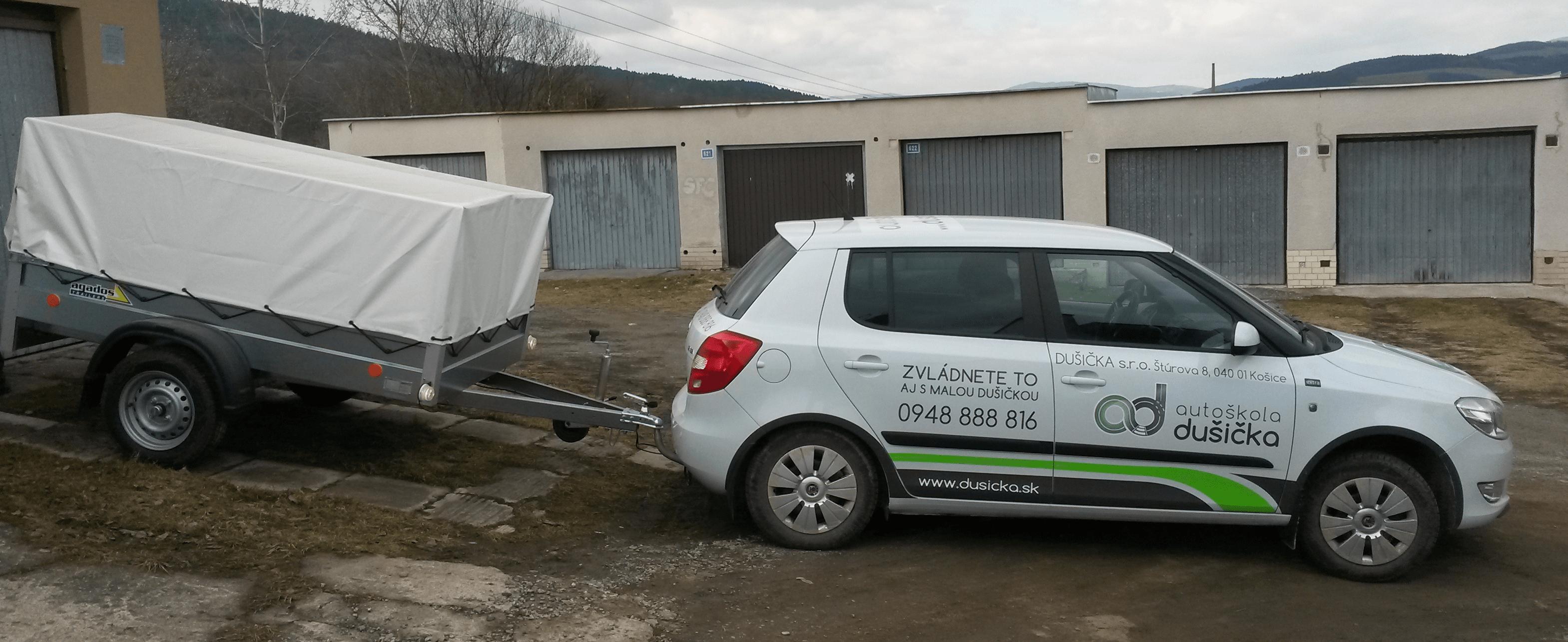 Prívesný vozík do 750kg, autoškola dušička Košice