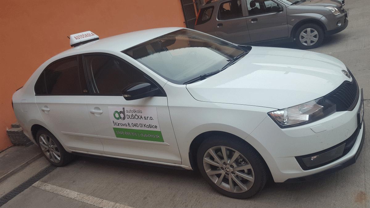 Výcvikové vozidlo Rapid, autoškola dušička Košice
