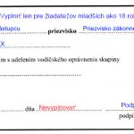 Vzor žiadosti o udelenie vodičského oprávnenia časť 2 - autoškola dušička v Košiciach
